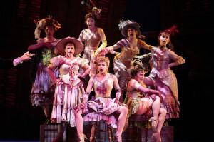 Ensemble performing Lovely Ladies. Les Misérables production photo. © 2013 Mark Kitaoka. Property of Village Theatre.